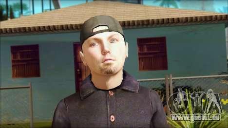 Fred Durst from Limp Bizkit v1 pour GTA San Andreas troisième écran