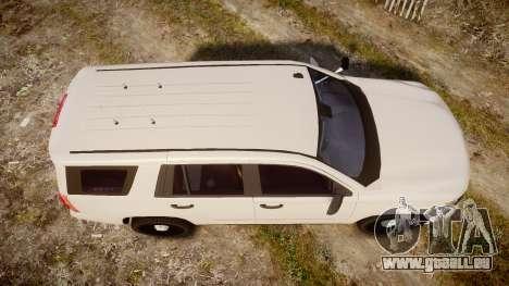 Chevrolet Tahoe 2015 PPV Slicktop [ELS] für GTA 4 rechte Ansicht