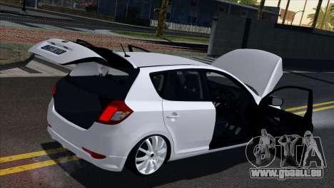 Kia Ceed pour GTA San Andreas vue de côté
