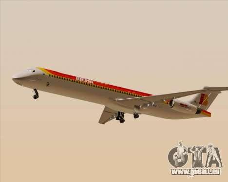 McDonnell Douglas MD-82 Iberia pour GTA San Andreas sur la vue arrière gauche