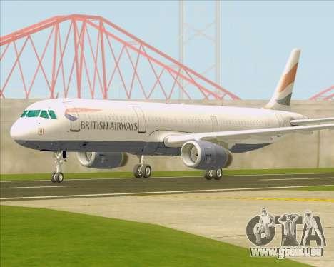 Airbus A321-200 British Airways für GTA San Andreas Seitenansicht
