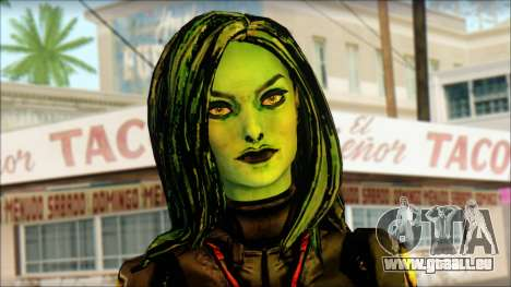 Guardians of the Galaxy Gamora v1 pour GTA San Andreas troisième écran