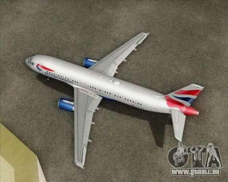 Airbus A320-232 British Airways für GTA San Andreas Seitenansicht