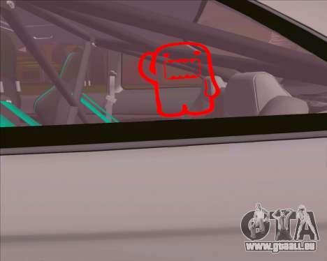 Honda Civic EM1 V2 pour GTA San Andreas vue de droite