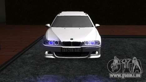 BMW 530d für GTA San Andreas zurück linke Ansicht