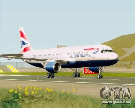 Airbus A320-232 British Airways für GTA San Andreas linke Ansicht