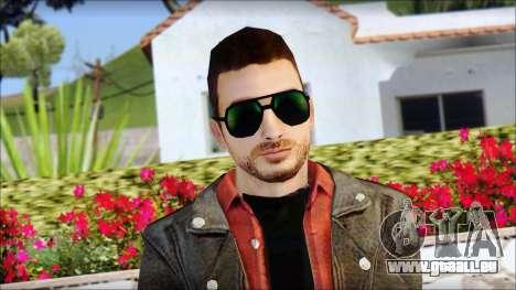 Young Bikerman Skin pour GTA San Andreas troisième écran