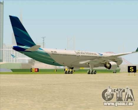 Airbus A330-300 Garuda Indonesia für GTA San Andreas rechten Ansicht