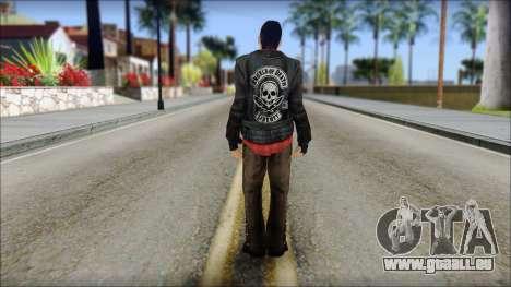 Young Bikerman Skin für GTA San Andreas zweiten Screenshot