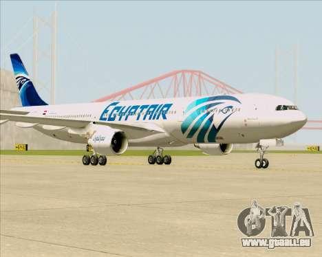 Airbus A330-300 EgyptAir pour GTA San Andreas sur la vue arrière gauche