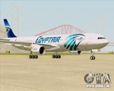 Airbus A330-300 EgyptAir für GTA San Andreas zurück linke Ansicht