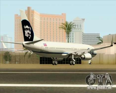 Boeing 737-890 Alaska Airlines für GTA San Andreas rechten Ansicht