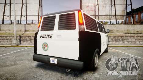 Declasse Burrito Police Transporter LED [ELS] für GTA 4 hinten links Ansicht