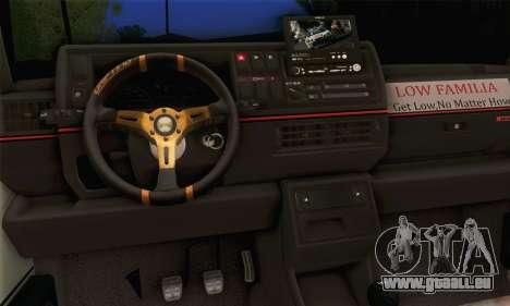 Volkswagen Golf Mk2 Storm pour GTA San Andreas sur la vue arrière gauche