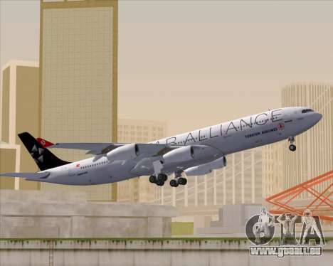Airbus A340-311 Turkish Airlines (Star Alliance) pour GTA San Andreas vue de côté