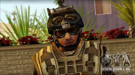 Les soldats de l'UNION européenne (AVA) v5 pour GTA San Andreas troisième écran