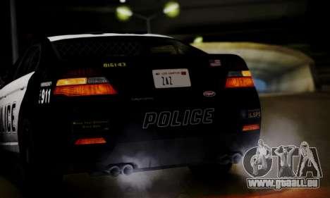 Vapid Police Interceptor from GTA V pour GTA San Andreas vue de dessus