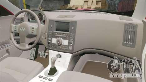 Infiniti FX 45 2008 LP pour GTA 4 Vue arrière