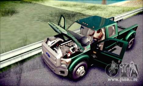 Ford F450 Super Duty 2013 HD pour GTA San Andreas vue de dessus
