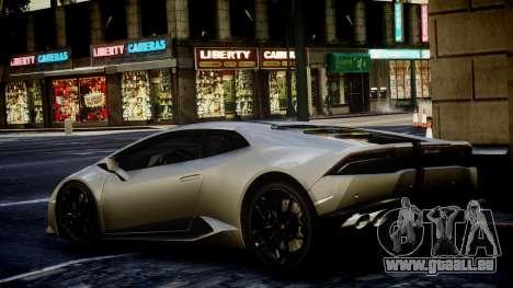 Lamborghini Huracan LP850-4 2014 Wheelsandmore pour GTA 4 est une gauche