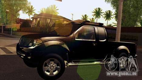 Nissan Frontier 2013 pour GTA San Andreas sur la vue arrière gauche