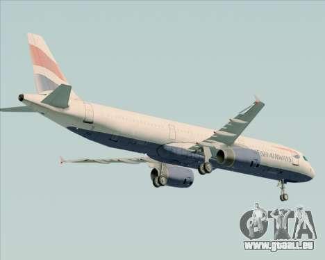 Airbus A321-200 British Airways für GTA San Andreas Rückansicht