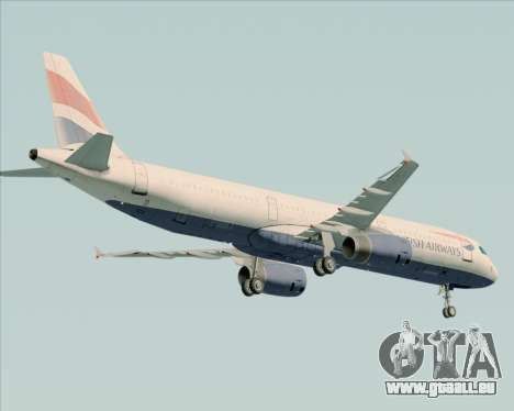 Airbus A321-200 British Airways pour GTA San Andreas vue arrière