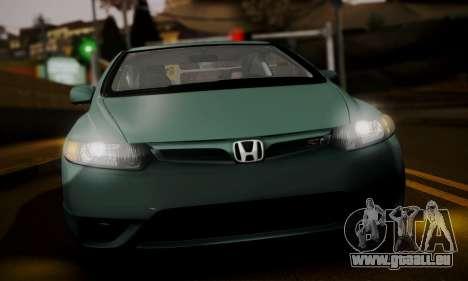 Honda Civic SI 2006 für GTA San Andreas zurück linke Ansicht