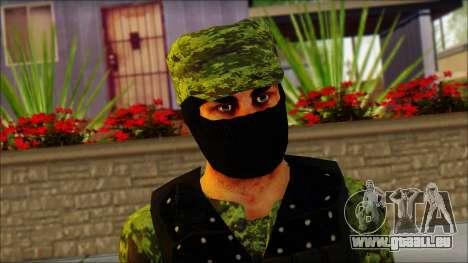 Skin Sedena Secretaria De La Defensa Nacional pour GTA San Andreas troisième écran