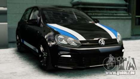 Volkswagen Golf R 2010 Polo WRC Style PJ1 pour GTA 4 Vue arrière de la gauche