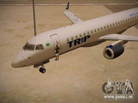 Embraer E190 TRIP Linhas Aereas Brasileira für GTA San Andreas Innenansicht