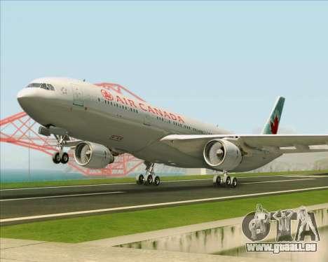 Airbus A330-300 Air Canada pour GTA San Andreas laissé vue