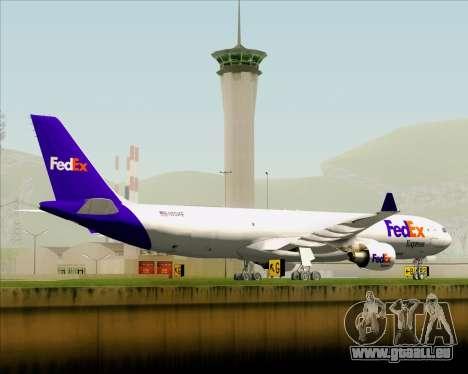 Airbus A330-300P2F Federal Express pour GTA San Andreas vue de dessus