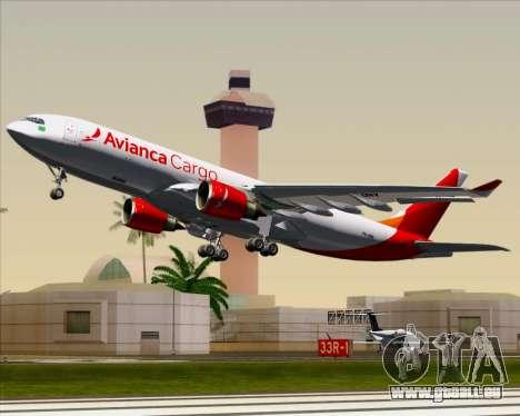 Airbus A330-243F Avianca Cargo für GTA San Andreas Seitenansicht