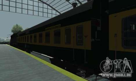 Garib Rath Express für GTA San Andreas zurück linke Ansicht