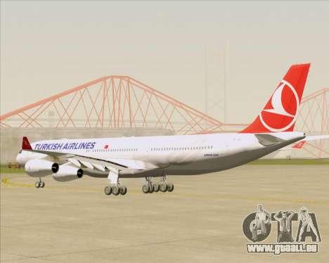 Airbus A340-313 Turkish Airlines für GTA San Andreas rechten Ansicht
