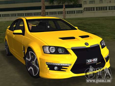 Holden HSV GTS 2011 pour GTA Vice City