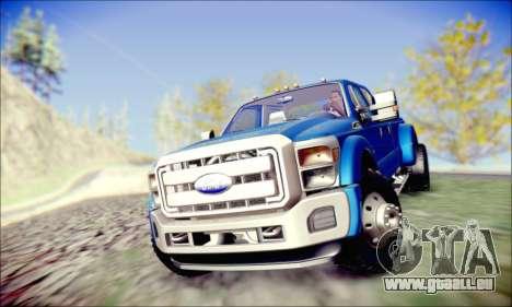 Ford F450 Super Duty 2013 HD pour GTA San Andreas vue arrière