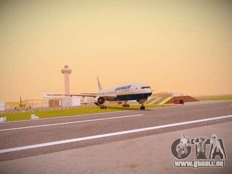 Boeing 777-2Q8ER Orenair Airlines für GTA San Andreas zurück linke Ansicht