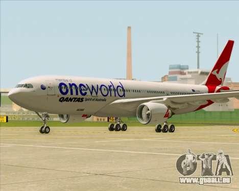 Airbus A330-200 Qantas Oneworld Livery pour GTA San Andreas laissé vue