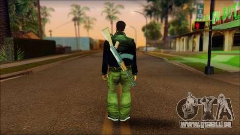 Gun and No Shades Claude für GTA San Andreas zweiten Screenshot