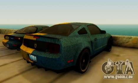 Ford Mustang Shelby Terlingua 2008 UA PJ für GTA San Andreas zurück linke Ansicht
