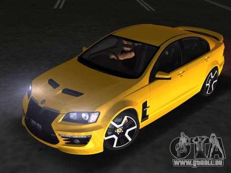 Holden HSV GTS 2011 für GTA Vice City Innenansicht