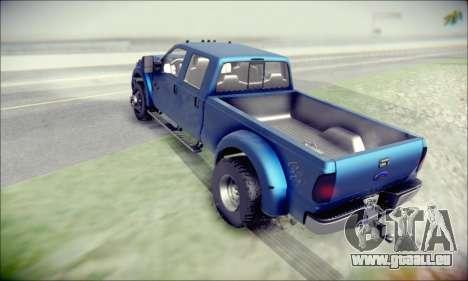Ford F450 Super Duty 2013 HD für GTA San Andreas zurück linke Ansicht