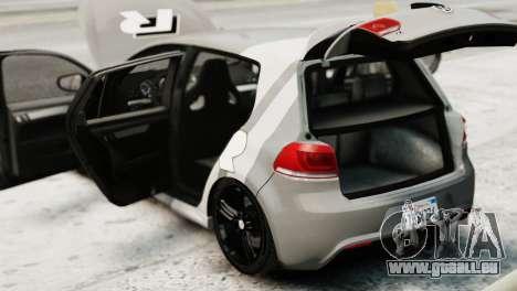 Volkswagen Golf R 2010 Driving Experience pour GTA 4 Vue arrière