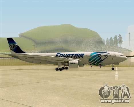 Airbus A330-300 EgyptAir für GTA San Andreas Rückansicht