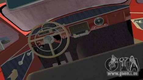 De GAZ à 22 Volga 1965 pour une vue GTA Vice City de la droite