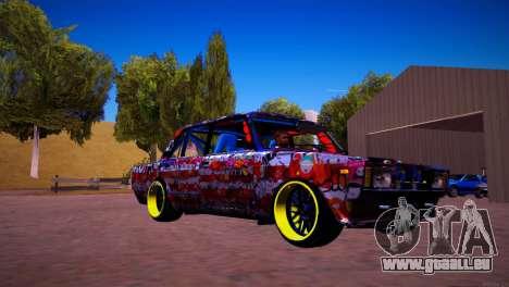 VAZ 2105 Dérive pour GTA San Andreas sur la vue arrière gauche
