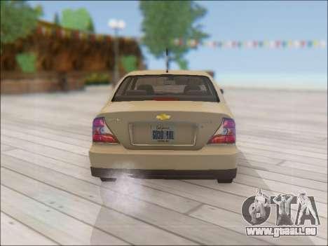 Chevrolet Evanda pour GTA San Andreas vue de droite