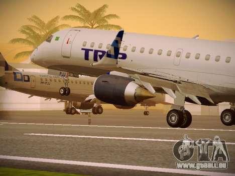 Embraer E190 TRIP Linhas Aereas Brasileira für GTA San Andreas Räder